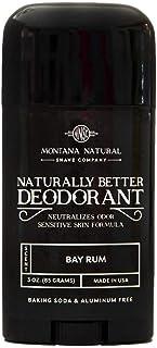 MNSC Bay Rum Naturally Better Deodorant - Magnesium and Activated Charcoal - Sensitive Skin Formula, Aluminum-Free, Baking...