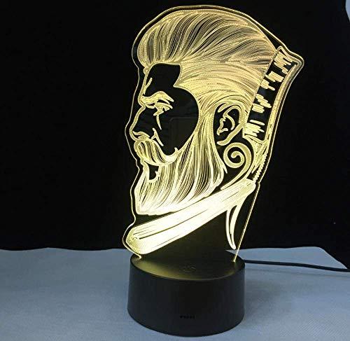 Barber Shop Business 3D LED nachtlampje beauty salon kapperswinkel sign nachtlampje optische illusie tafellamp