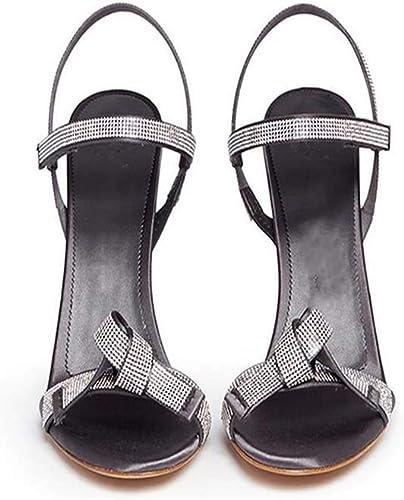 GHFJDO Sandales habillées en PU pour Femmes, Talons Talons Talons Hauts, Chaussures à décaper pour Femmes, Danse du Poteau, Escarpins,Natural,42EU 448