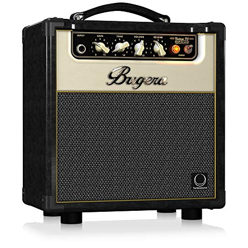 BUGERA V5 5-Watt Class Amplifier Combo with Infinium Tube Life Multiplier Black, (V5INFINIUM)
