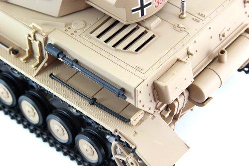 RC Auto kaufen Kettenfahrzeug Bild 4: XciteRC 35511000 Ferngesteuerter RC Panzer Modellpanzer DAK Kampfwagen IV F-1 - Ready to Race Sound and Smoke 1:16, braun*