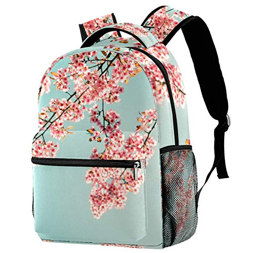 Nature Beautiful Sakura Pink Flower in Spring Backpack for Teens School Book Bags Travel Casual Daypack