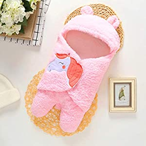 BRANDONN New Born Hooded Supersoft Swaddle Wrapper Cum Baby Blanket for Babies (Pink, 0-6 Months) 14 51DiwT3npnL. SS300