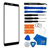 MMOBIEL Front Glas Reparatur Set kompatibel mit Honor 7X (Schwarz) 5.93 Inch Display Touchscreen mit Werkzeug-Set