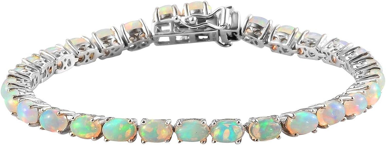Shop Charlotte Mall LC Gemstone Jewelry Opal Sterling cheap Tennis Silve 925 Bracelet