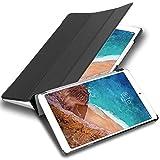 Cadorabo Funda Tableta para Xiaomi Mi Pad 4 Plus (10.1' Zoll) in Negro SATÉN – Cubierta Proteccíon Bien Fina en Cuero Artificial en Estilo Libro con Auto Wake Up e Función de Suporte