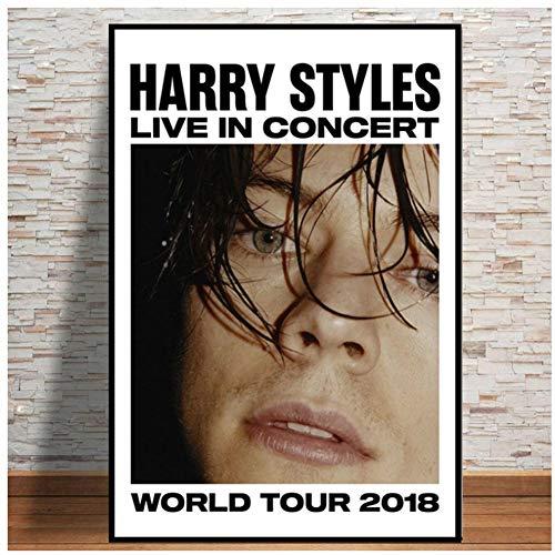 Harry Styles Tour Rock Music Star Poster e impresiones Arte de la pared Pintura moderna de la lona Cuadros de la pared para la sala de estar Decoración del hogar-50x70cm Sin marco