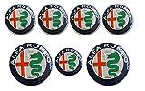 AOWIFT - 7 tapacubos de Volante con Logotipo de Alfa Romeo