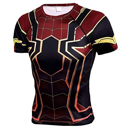 メンズ Tシャツ半袖 Spider Manスパイダーマン吸汗速乾 コンプレッションウェア パワーストレッチ アンダーウェア