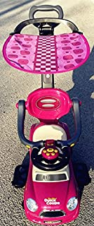 Quick Coupe Purple Kids Ride On 3 in 1 Push Car with Canopy Toddler Wagon W Handle Horn Outdoor Stroller &Easy Wheel &Electronic