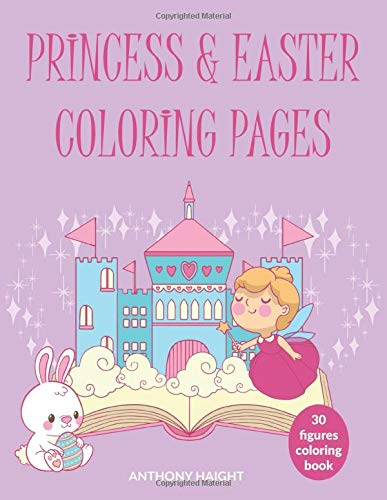 Princess & Easter Coloring Pages: 30 figures coloring book