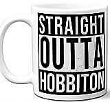 Taza de regalo para J. R. R. Tolkien 'El Seor de los Anillos y El Hobbit. Fan. Directamente de Hobbiton. Divertido l Su Caf T Mujeres Hombres Cumpleaos Navidad Da del Padre Da de la Madre.