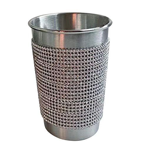 GRASARY Exquisita Taza De Agua De Diamantes De Imitación con Pajita, Taza De Bebidas Brillante De 350 Ml / 500 Ml para Oficina, Taza De Bebida Portátil Resistente Al Desgaste, Fácil De Limpiar 350ml