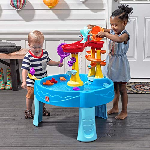 Step 2 Archway Rain Showers Splash Pond Water Table, Kids Water Play Table with 13-Pc Accessory Set, 18 months, Holds up to 4 Gallons