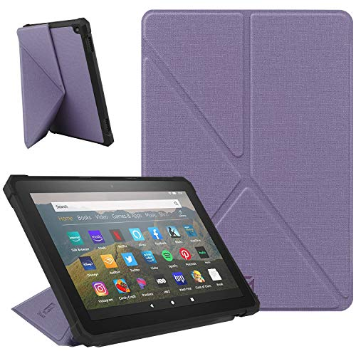 ZhaoCo Custodia Compatibile con Kindle Fire HD 8 & Fire HD 8 Plus (10ᵃ Generazione, Versione 2020), Custodia Sottile e Leggera Antiurto in Pelle per Kindle Fire HD 8/8 Plus - Viola