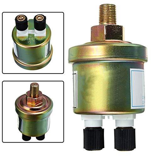 XIOSOIAHOU Sensor 1/8 NPT Öldruckgeber Motorschalter Sensor Messgerät Sender am meisten benutzt Automobil Doppelkopföldruckgeber for Autos (Color : Green)