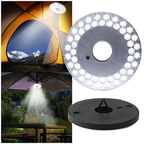 48 LED Außenleuchten Sonnenschirm Beleuchtung Lampe,3 Modi Super Helle Notlicht Camping Zelt Lampe für Party Camping Garten Outdoor Patio Hof Garten Rasen