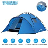 Weanas 4-5 Person Pop Up Tents for Camping, Automatic Instant Family Tent, Double Layers UV Protection Waterproof Dome Tent for Outdoor Sports