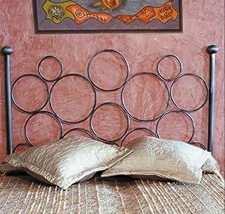 Hogares con Estilo - Cabecero Forjado artesanalmente en España Modelo CÍRCULOS para Cama de 150 cms. Color 1