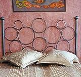 Hogares con Estilo - Cabecero Forjado artesanalmente en España Modelo CÍRCULOS para Cama de 135 cms. Color 1