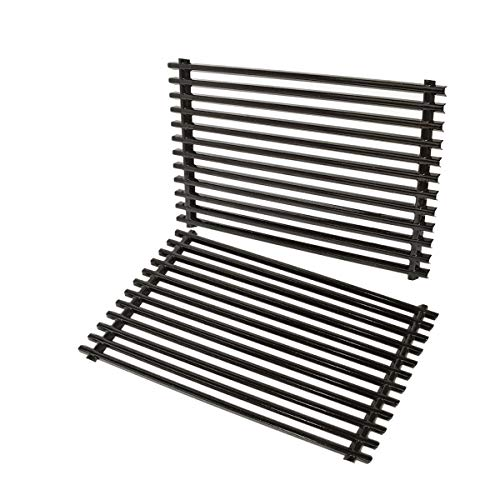 Stanbroil Porcelain Enameled Cooking Grates Fit Weber Spirit 500, Genesis Silver A and Spirit 200 Series (with Side Control Panels) Gas Grills, Replacement Parts for Weber 7521 7522 7523 65904 65905 Grates Grids