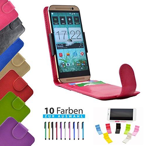 4 in 1 set ikracase Slide Flip Hülle für Archos 50 Titanium 4G Smartphone Tasche Case Cover Schutzhülle Smartphone Etui in Rosa