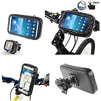 DFV mobile - Soporte Profesional para Manillar de Bicicleta y Moto Impermeable Giratorio 360º para WOXTER ZIELO Z-420 Plus HD - Negra