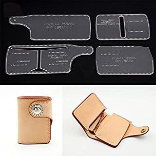 NW Short Wallet Acrylic Template Wallet Leather Pattern Acrylic Leather Pattern Leather Templates for Bags