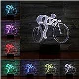 Regalo De Navidad 3D Led Lámpara De Bicicleta 7 Colores Ambiente Lámparas De Iluminación Colores Sensor De Bulbo Luz Nocturna Niños Amante Regalos Dormitorio Decoración Del Escritorio