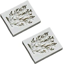 SaiDian 2 Pcs Grey Cake Mold Sea Seaweed Coral Icicle Silicone Mold for Chocolate Fondant Baking Tool DIY Baking Accessories