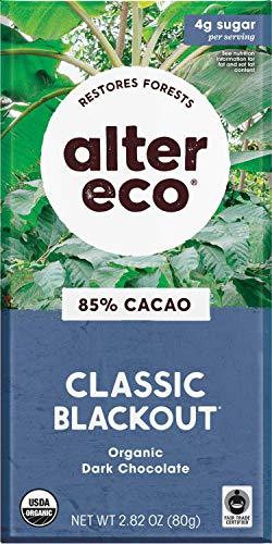 Alter Eco | Classic Blackout | 85% Pure Dark Cocoa, Fair Trade, Organic, Non-GMO, Gluten Free Dark Chocolate Bar, 12 Bars