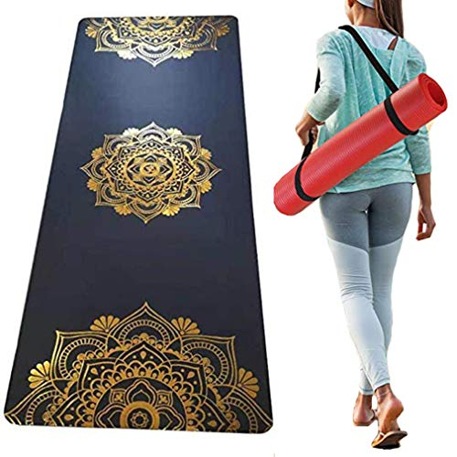 XDLH Bronze Geschnitzt Yoga-Matte, rutschfeste Gummi Yoga-Matte, Edel Flash Gold Professionelle Anti-Rutsch-Fitness-Matte Sportmatte