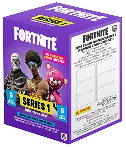 Panini Fortnite Series 1 Trading Cards - Blasterbox, 37 Sammelkarten, inkl. einer hochwertigen Epic-Cards mit beeindruckenden optischen Effekten