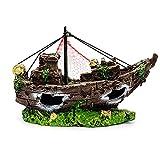 Aquarium Pirate Ship Decorations Fish Tank Ornaments - Material De Resina Decoraciones De Naufragios, Respetuoso Del Medio Ambiente Para El Agua De Agua Dulce Aquarium Aquarium Sunken Buque Accesorios