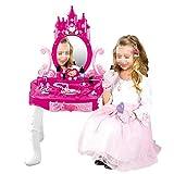 GPWDSN Outils de Jeu pour Enfants Ensemble de Coiffeuse Maquillage pour Les Filles Jeu de Simulation d'habillage Kit de Jouets de Maquillage Petites Filles Enfants Salon de beauté Jouets Rose