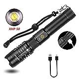 Hellste Taschenlampe Der Welt Aufladbar Usb Taschenlampe Kraftmax 5000 Lumen
