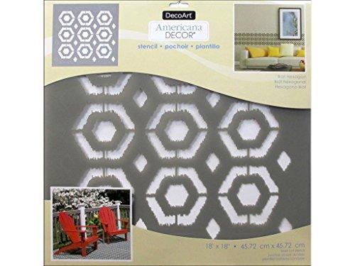 Deco Art Decads-k.416 Décor Pochoir 18 x 18 Ikathxgn Americana Décor Pochoir 18 x 18 Ikat hexagonale