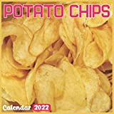 Potato Chips Calendar 2022: Official Potato Chips Calendar 2022, 18 Month Photo of Potato Chips calendar 2022, Mini Calendar