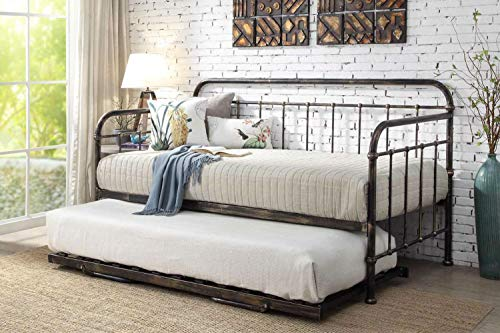 Dream Warehouse Harlow Antique Metal Day Bed with Guest Trundle
