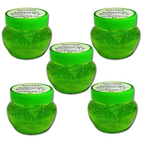 NutriGlow Aloe Vera Massage Gel/Each 100 gm/Pack of 5 / Skin Moisturizer/For Face and Hair/Glowing & Radiant Skin