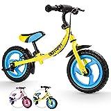 HAPTOO Laufrad ab 2 Jahre Junge Kinder Junge (2-4 Jahre Banane mit Bremse)…