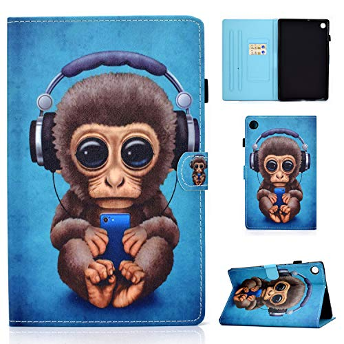 Jajacase Cover per Huawei Enjoy Tablet 2 / MatePad T10 T10S 2020 (10.1 Pollici) Tablet - Custodia Case Shell Protettiva con PU in Pelle, Supporto e Multi-View - Music Monkey