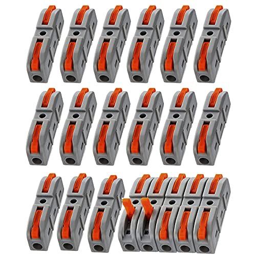 MOGADEE 20 Stück compact-Verbindungsklemme, 2-Leiter-Klemme mit...
