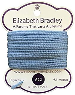 Elizabeth Bradley Tapestry Wool Color 622, Needlepoint Thread, 100% Wool Yarn, British Made, 4 ply, Needlework (10 Yard Card)