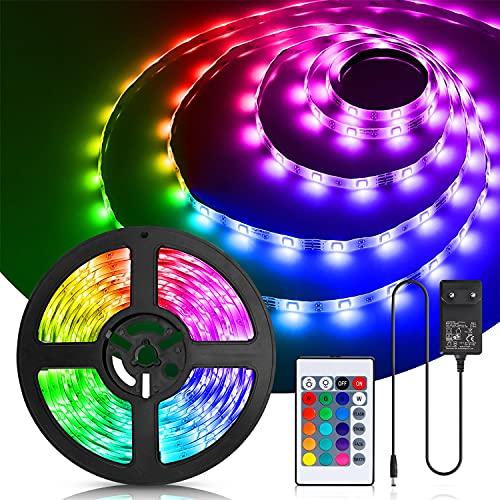 Aigostar Tiras LED 5M, RGB Tiras de Luces LED con Control...