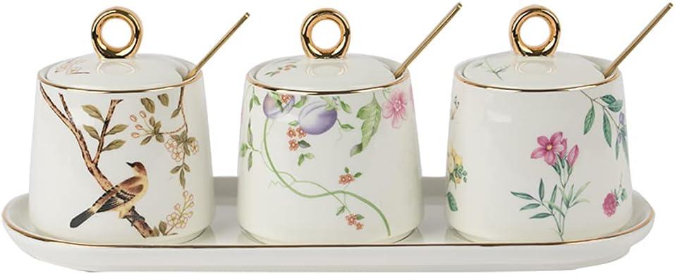 MHUI Seasoning Box Condiment Pot jar price Ceramic service Creative