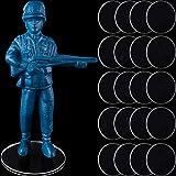 50 Bases de miniaturas Transparentes de 25 mm Accesorios Circulares de Acrílico...