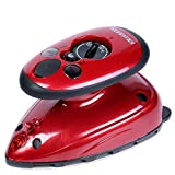 SMAGREHO Mini Travel Steam Iron with Dual Voltage, Anti Slip Handle...