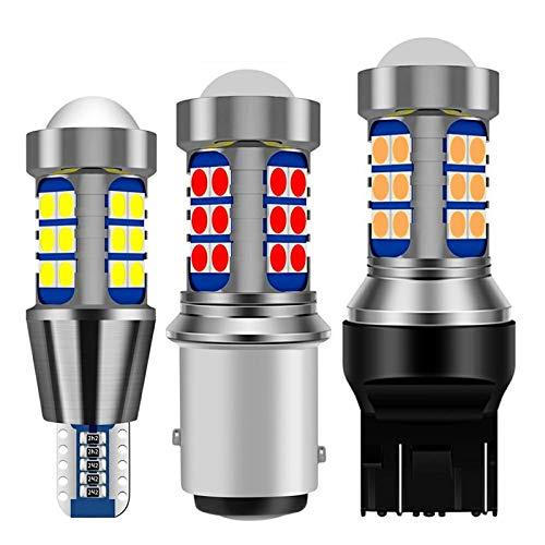 2 Unids 1156 Ba15s P21w 1157 Bay15d P21 5W BAU15S T15 W16W T20 7443 W21 5w 7440 W21w T25 3157 Led Car Brake Light Auto Reverse Lamp-Amarillo ámbar 1156 Ba15