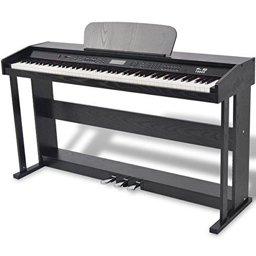 vidaXL Piano Eléctrico Digital 88 Teclas con Pedales Tablero de Melamina...